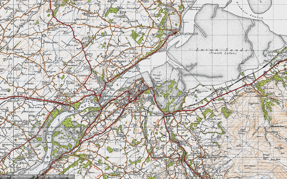 Old Map of Historic Map covering Abercegin in 1947
