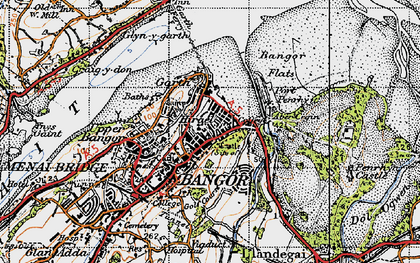 Old map of Abercegin in 1947
