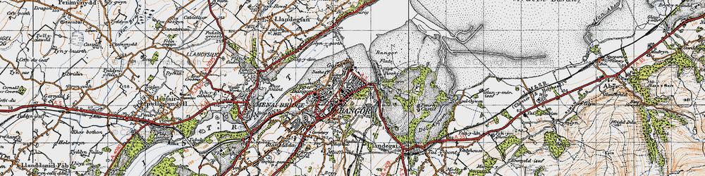 Old map of Abercegin in 1947