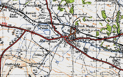 Old map of Hirwaun in 1947