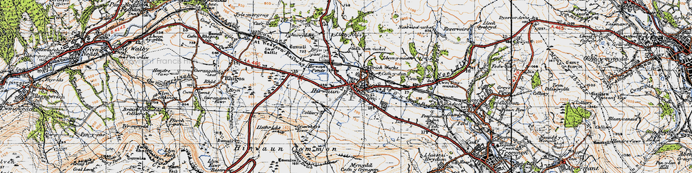 Old map of Afon Cynon in 1947