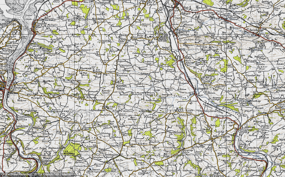 Old Map of Historic Map covering Linscott in 1946