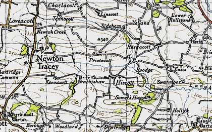 Old map of Linscott in 1946