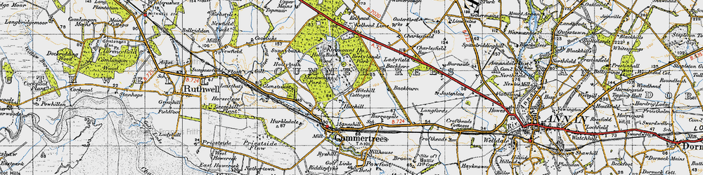 Old map of Winterseugh in 1947