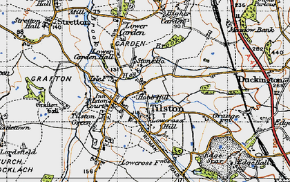 Old map of Hob Hill in 1947