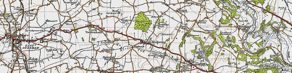 Old map of Whitford Br in 1946