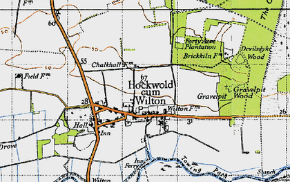 Old map of Wilton Br in 1946