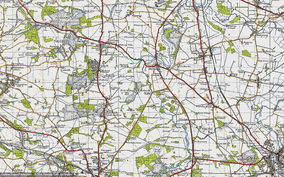 Old Map of Historic Map covering Ash Holt in 1947
