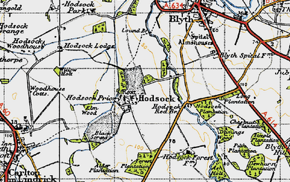 Old map of Ash Holt in 1947