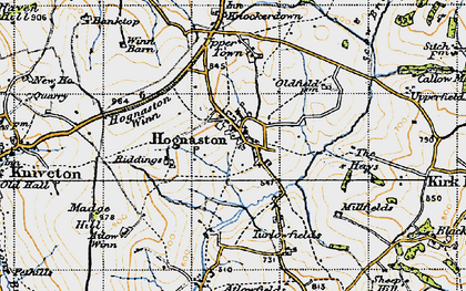 Old map of Atlow Winn in 1946