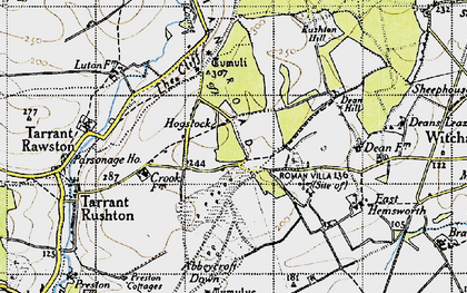 Old map of Abbeycroft Down in 1940