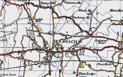 Old map of Holbeach in 1946