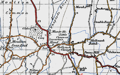 Old map of Whaplode River in 1946