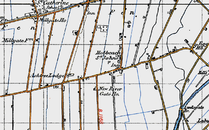 Old map of Whaplode St Catherine in 1946