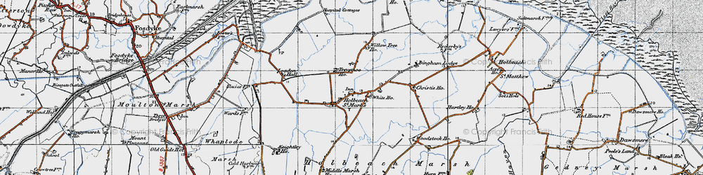 Old map of Willow Tree Ho in 1946