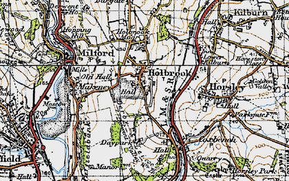 Old map of Holbrook in 1946