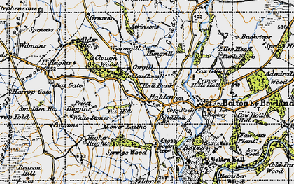 Old map of Wycongill in 1947
