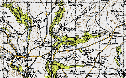 Old map of Whitefield in 1946