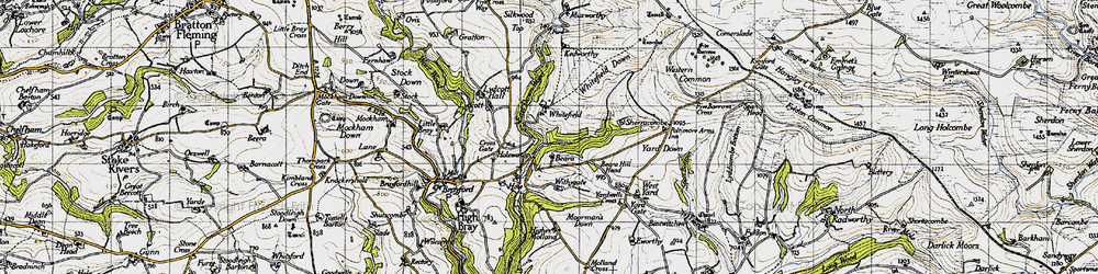 Old map of Withygate in 1946