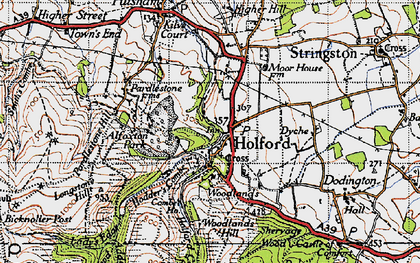 Old map of Holford in 1946