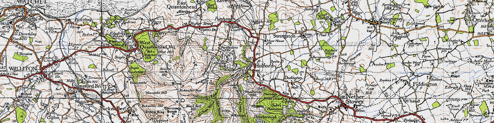Old map of Woodlands Hill in 1946