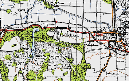 Old map of Holkham in 1946