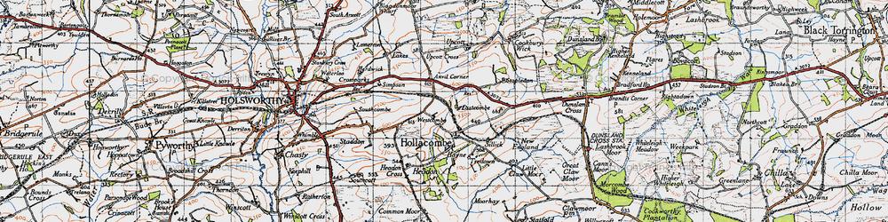 Old map of Anvil Corner in 1946