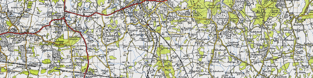 Old map of Holland in 1946