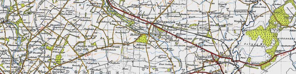 Old map of West Scales in 1947
