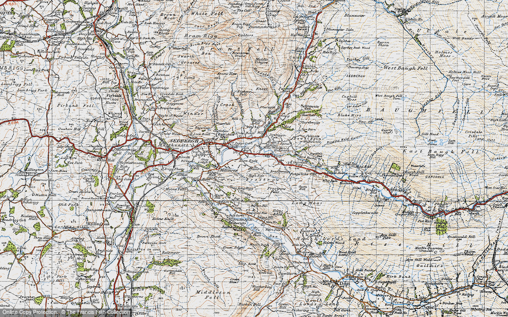 Old Map of Historic Map covering Thursgill in 1947