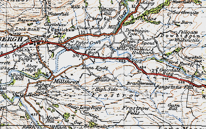 Old map of Thursgill in 1947