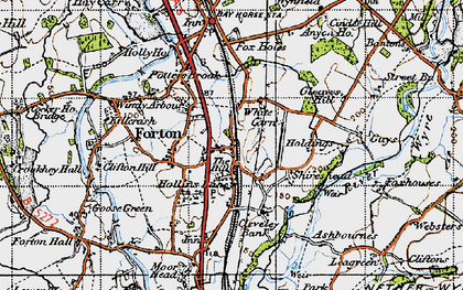 Old map of White Carr in 1947
