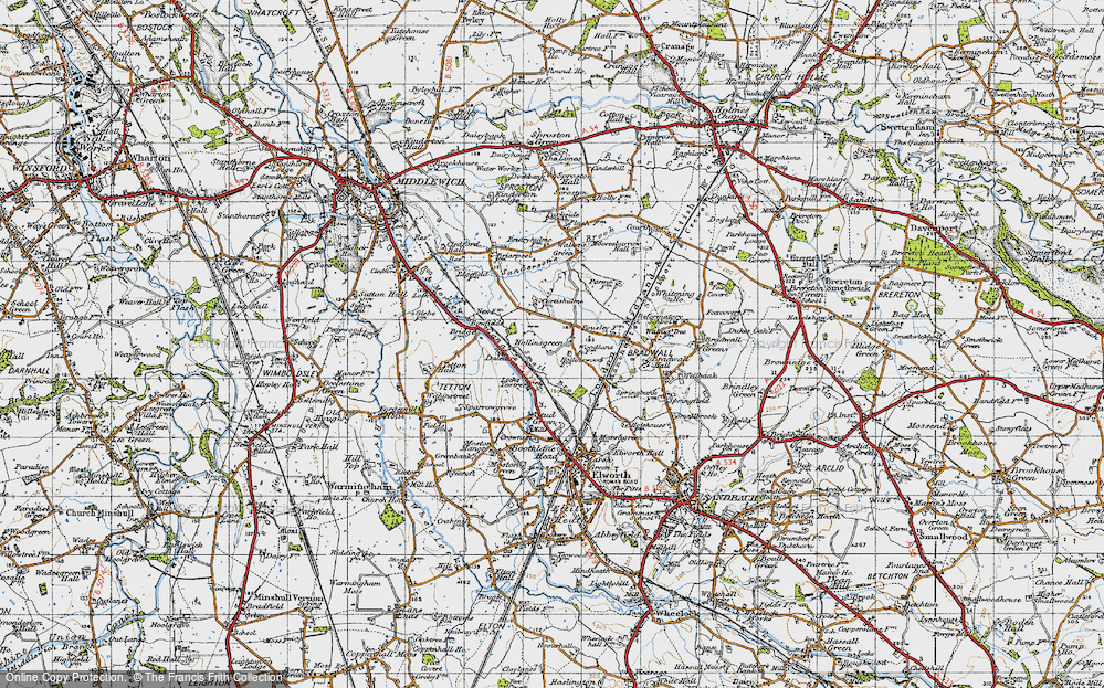 Old Map of Hollinsgreen, 1947 in 1947
