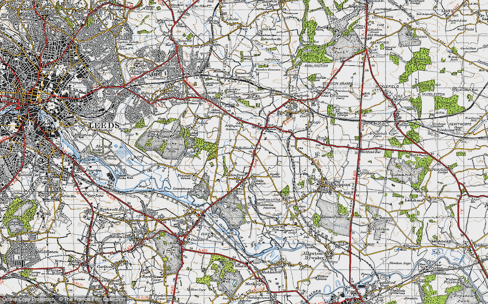 Old Map of Historic Map covering Avenue Wood in 1947