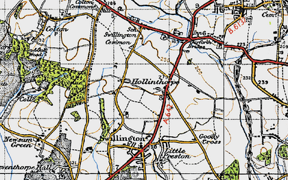 Old map of Avenue Wood in 1947