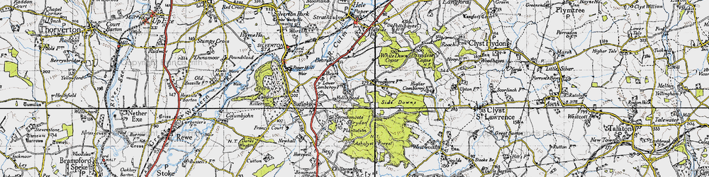 Old map of White Down Copse in 1946