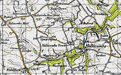 Old map of Whitehouse in 1946