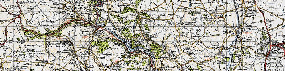 Old map of Holloway in 1947