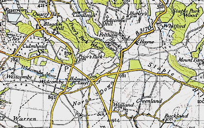 Old map of Westcombe in 1946