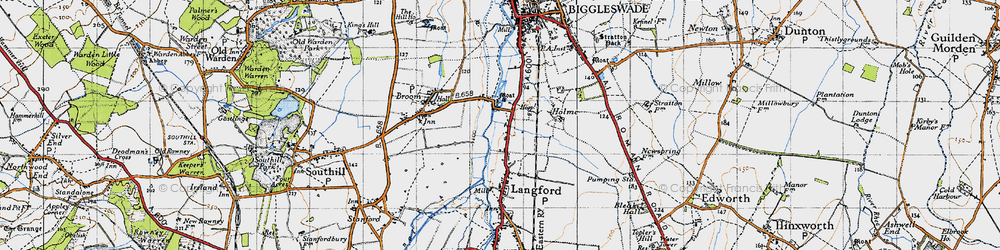 Old map of Holme in 1946