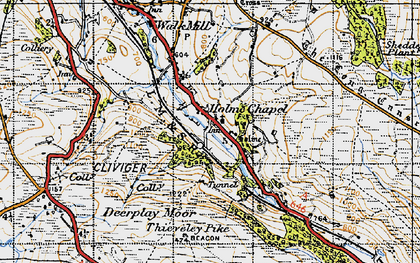 Old map of Limestone Trail in 1947