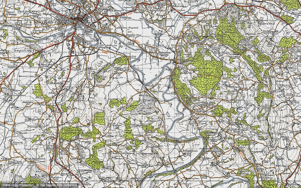 Old Map of Holme Lacy, 1947 in 1947