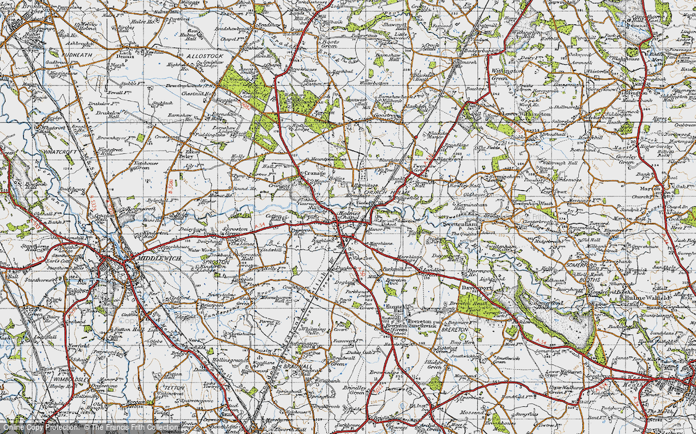 Old Map of Holmes Chapel, 1947 in 1947