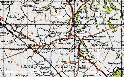 Old map of Holmrook in 1947
