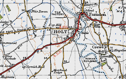 Old map of Holt in 1947