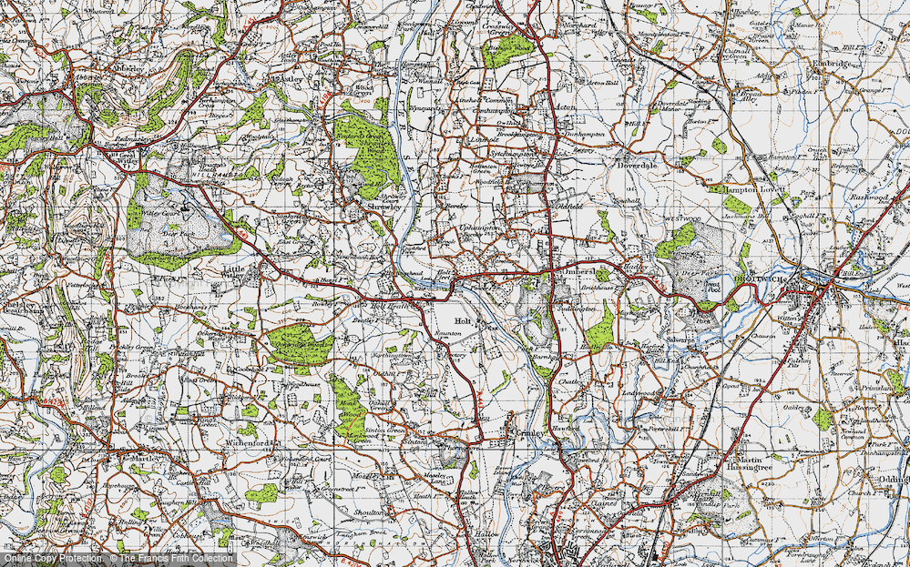 Old Map of Holt Fleet, 1947 in 1947