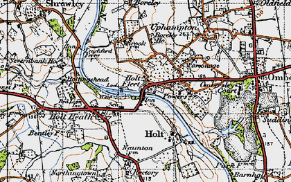 Old map of Holt Fleet in 1947