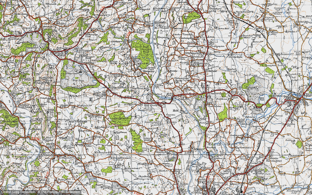 Old Map of Holt Heath, 1947 in 1947