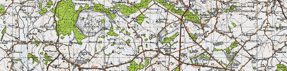 Old map of Agardsley Park in 1946