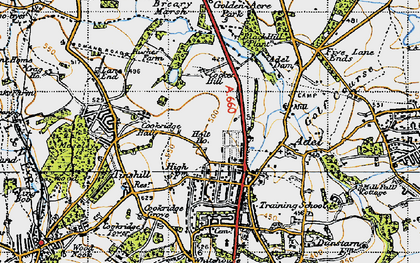 Old map of Adel Dam in 1947